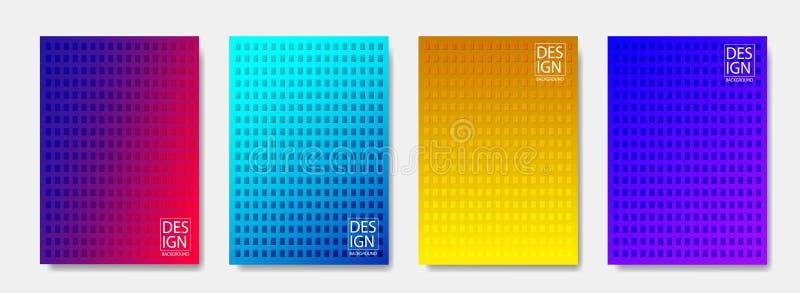 设置时髦最小的盖子设计 网站的五颜六色的半音现代模板设计 r 库存例证