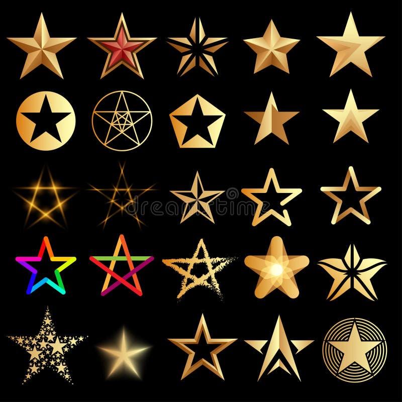 设置星形 库存例证