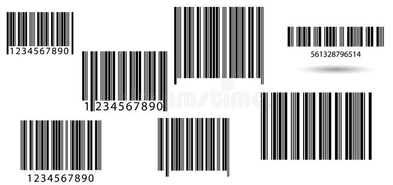 设置条形码 向量例证