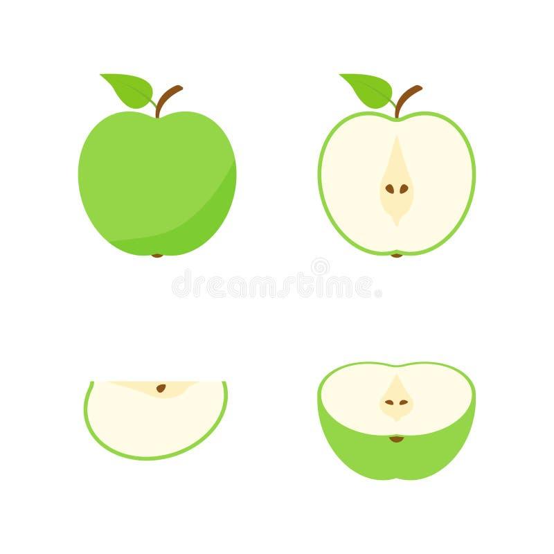 设置果子和莓果 夏天果子 果子苹果,梨,草莓,桔子,桃子,李子,香蕉,西瓜,菠萝猕猴桃 库存例证