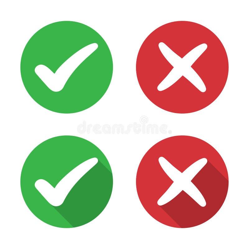 设置校验标志和发怒象在一个平的设计 库存例证