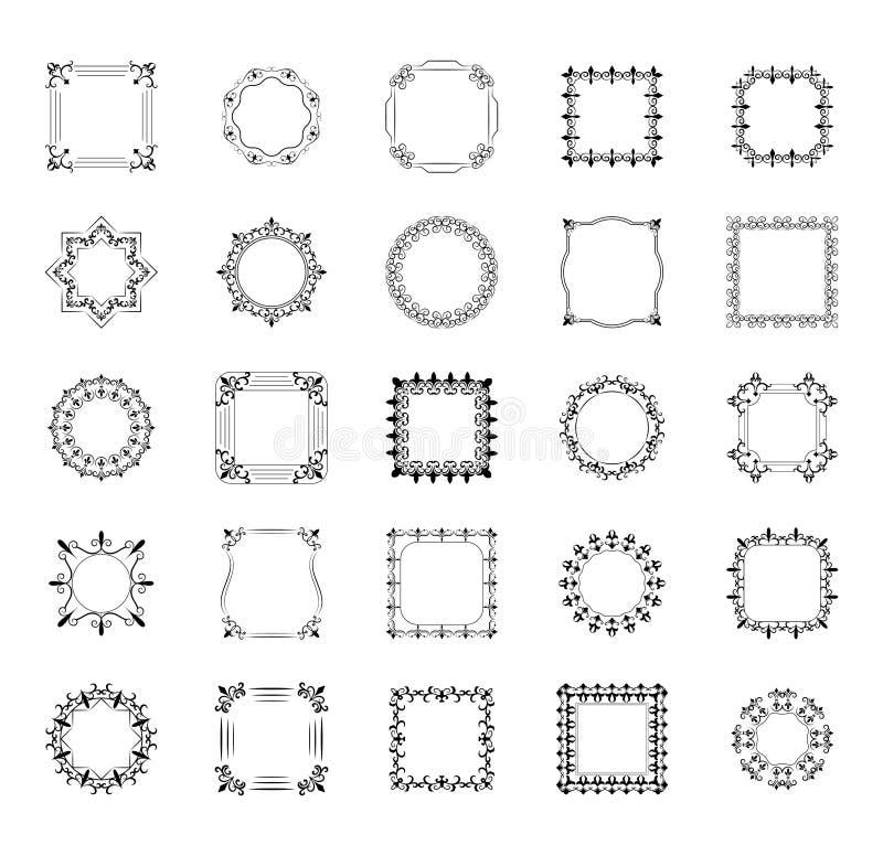 设置框架,并且组合图案排行象 库存例证