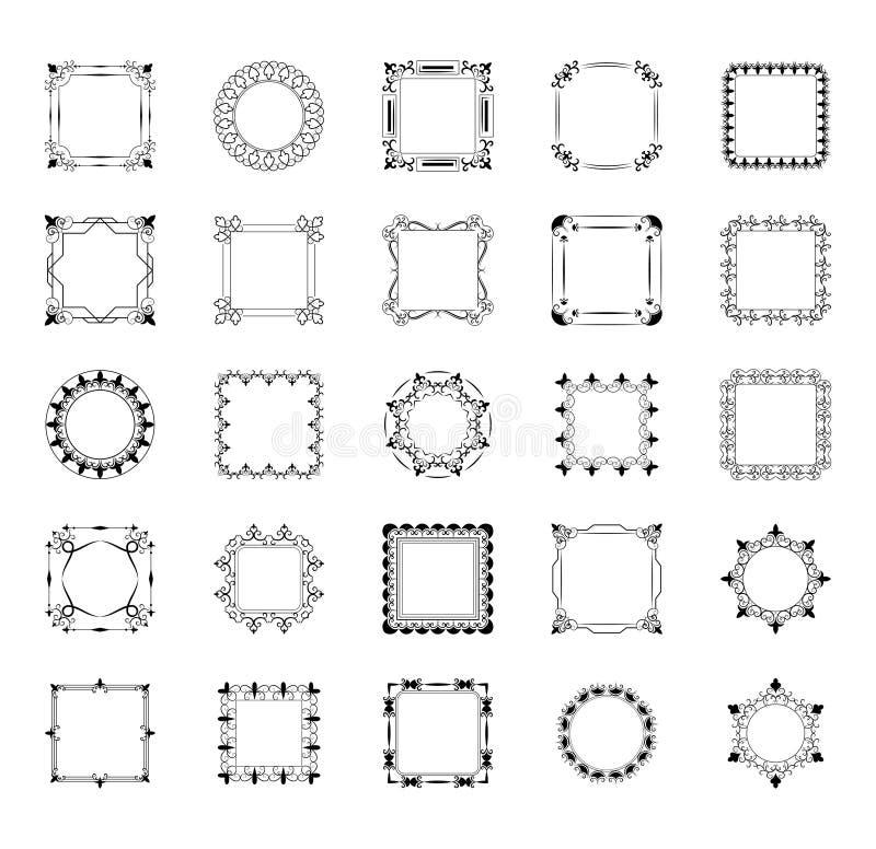 设置框架,并且组合图案排行象 向量例证
