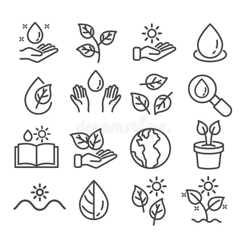 设置植物象被隔绝 增长的植物概念 r 皇族释放例证