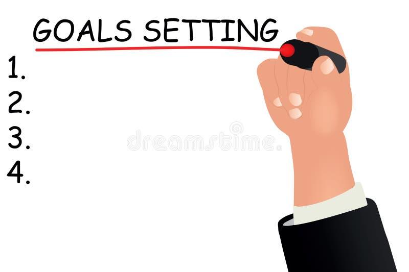 设置概念的目标 向量例证