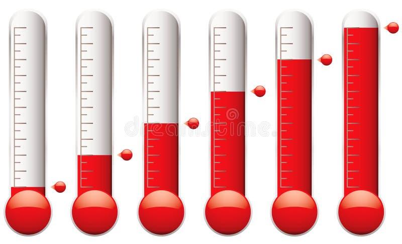 设置温度计 皇族释放例证
