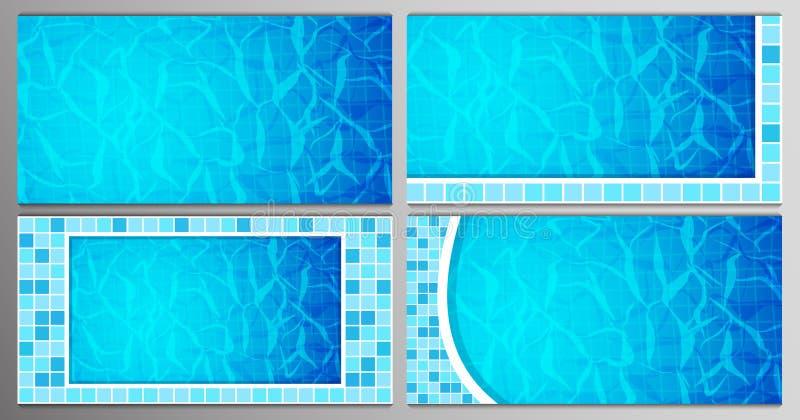 设置游泳场底下腐蚀剂起波纹并且流动有波浪背景 背景可能出现纹理使用的水 顶上的视图 向量例证
