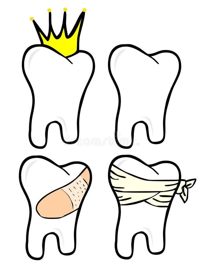 设置牙 向量例证