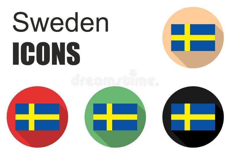 设置瑞典象 库存例证