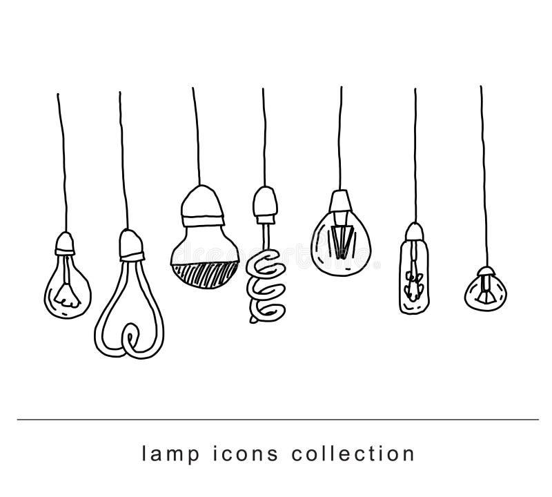 设置电灯泡想法象,传染媒介例证 皇族释放例证