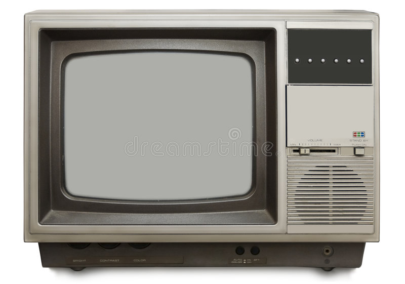 设置电视葡萄酒 图库摄影