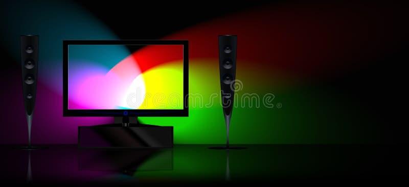 设置电视 向量例证