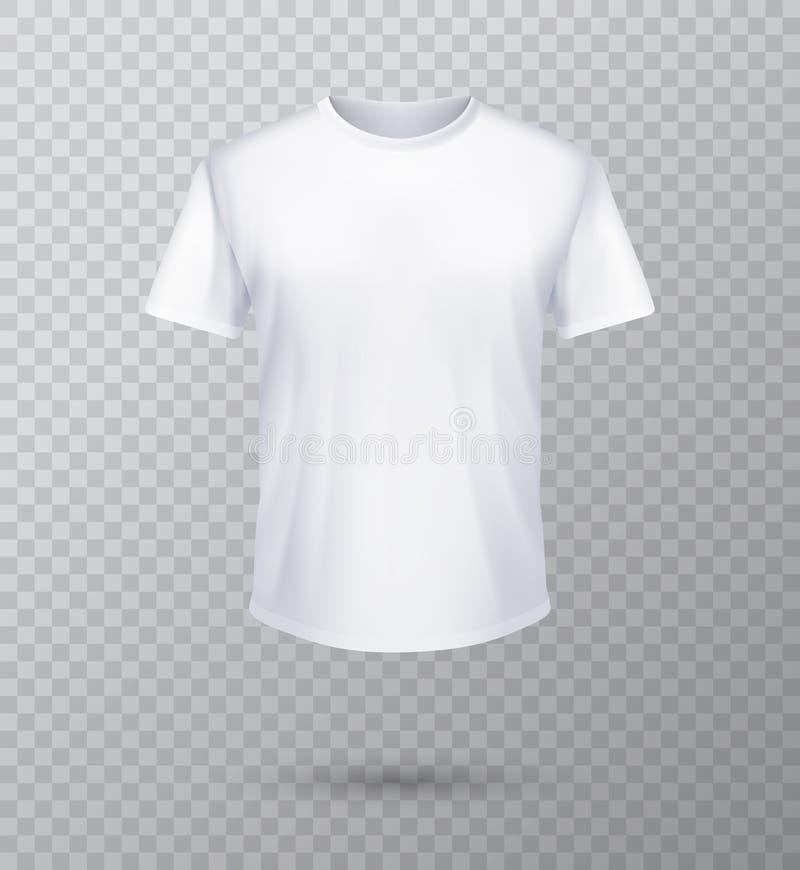 设置的衬衣嘲笑 T恤杉模板 黑,灰色和白色版本,前面设计 向量例证