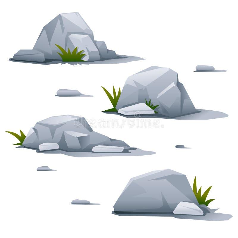 设置石头 库存例证