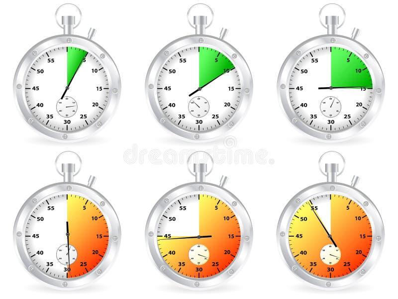 设置秒表 向量例证