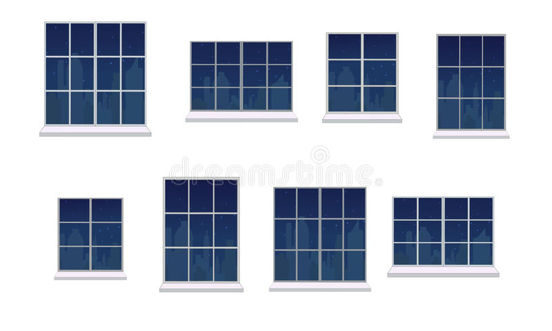 设置窗架 库存例证