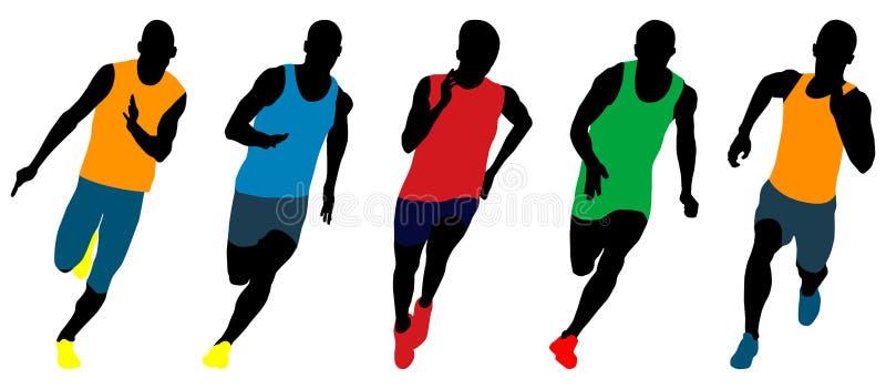 设置竞技赛跑者 库存例证