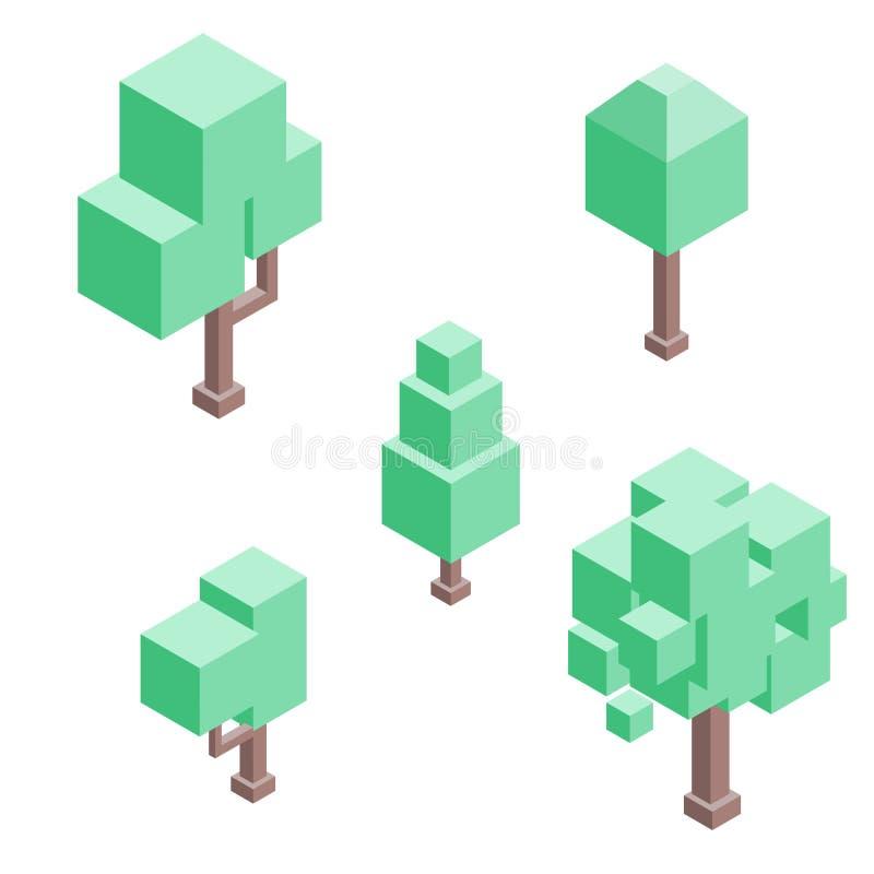 设置等量树 : 库存例证