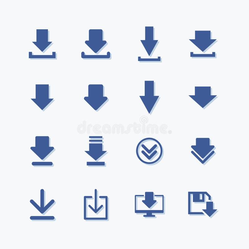 设置简单的标志平的传染媒介下载象 皇族释放例证