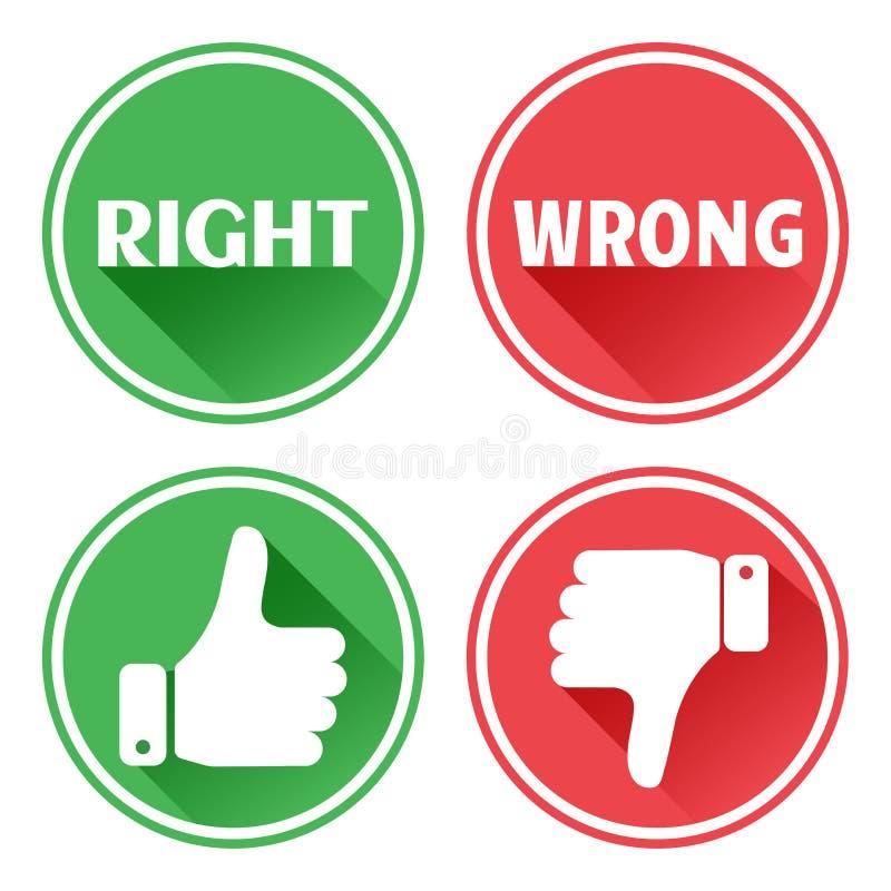 设置红色和绿色象按钮 E r ?? 皇族释放例证