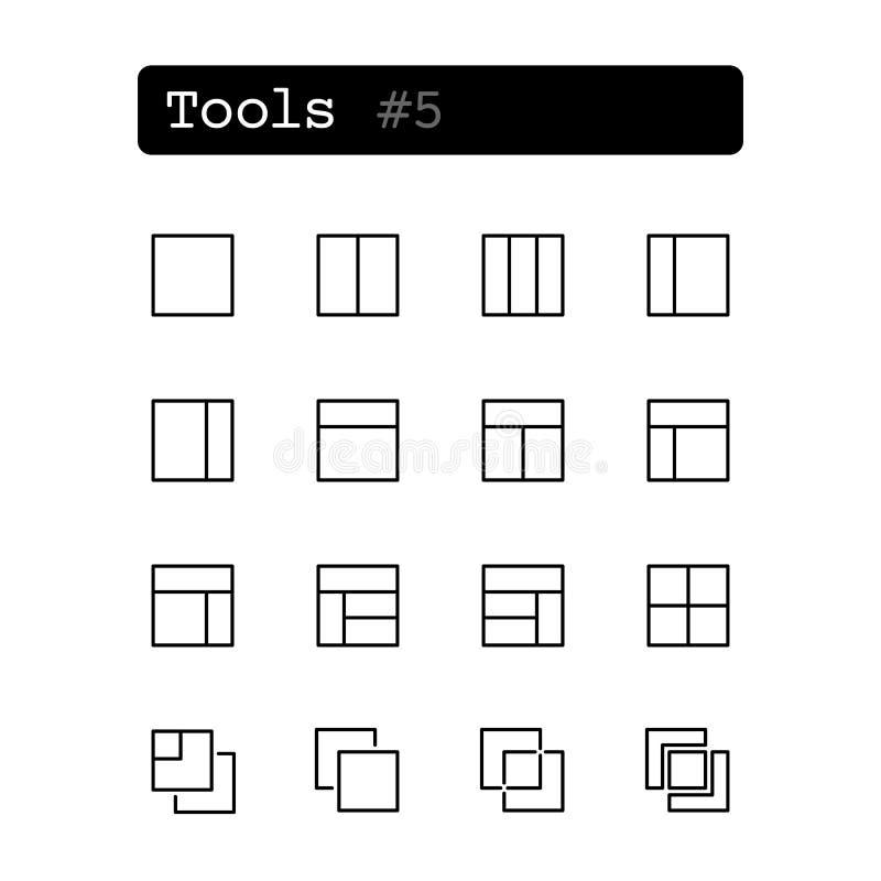设置线象 向量 用工具加工编辑 向量例证