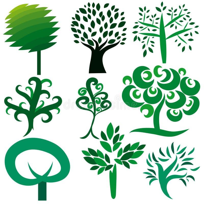 设置结构树向量 皇族释放例证