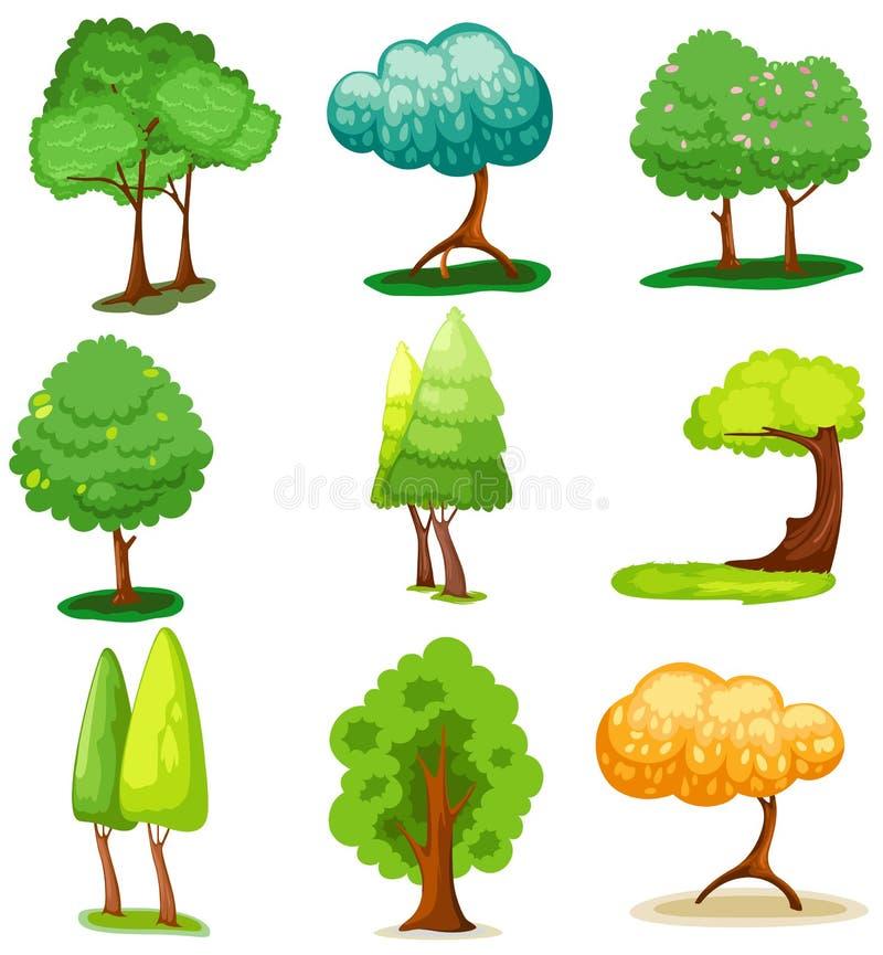 设置结构树 皇族释放例证