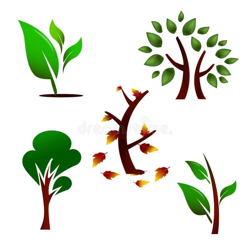 设置结构树 向量例证