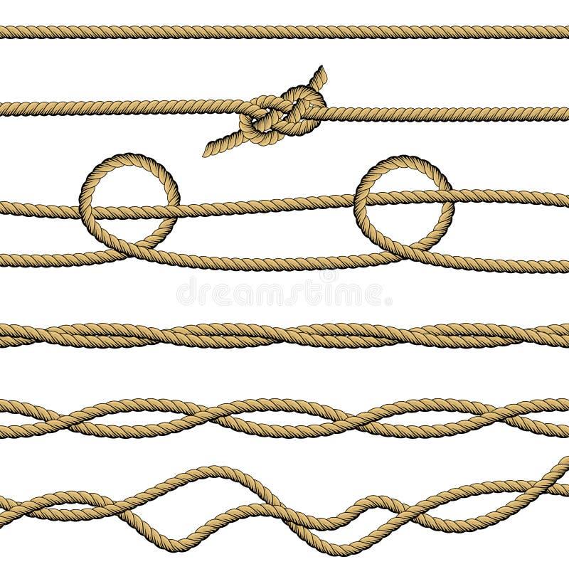 设置绳索7 向量例证