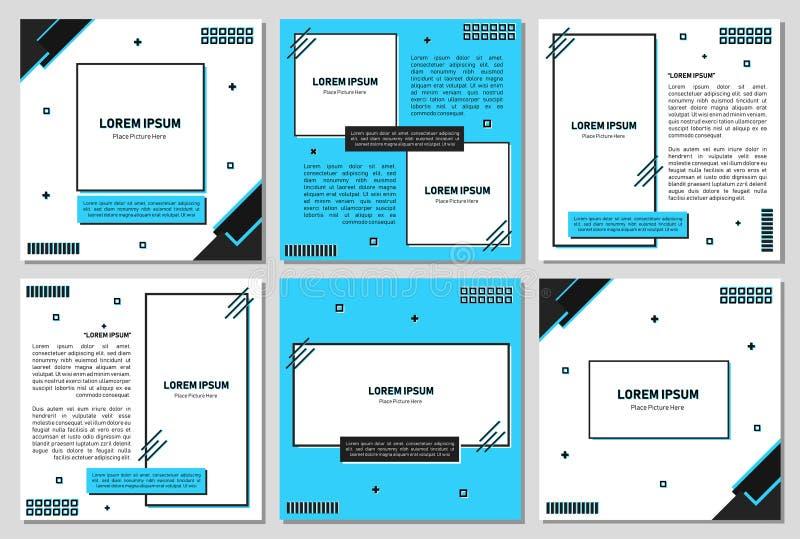 设置编辑可能的方形的横幅模板 社会媒介岗位和网/互联网广告的编辑可能的横幅 编辑可能的横幅adversiter tem 皇族释放例证