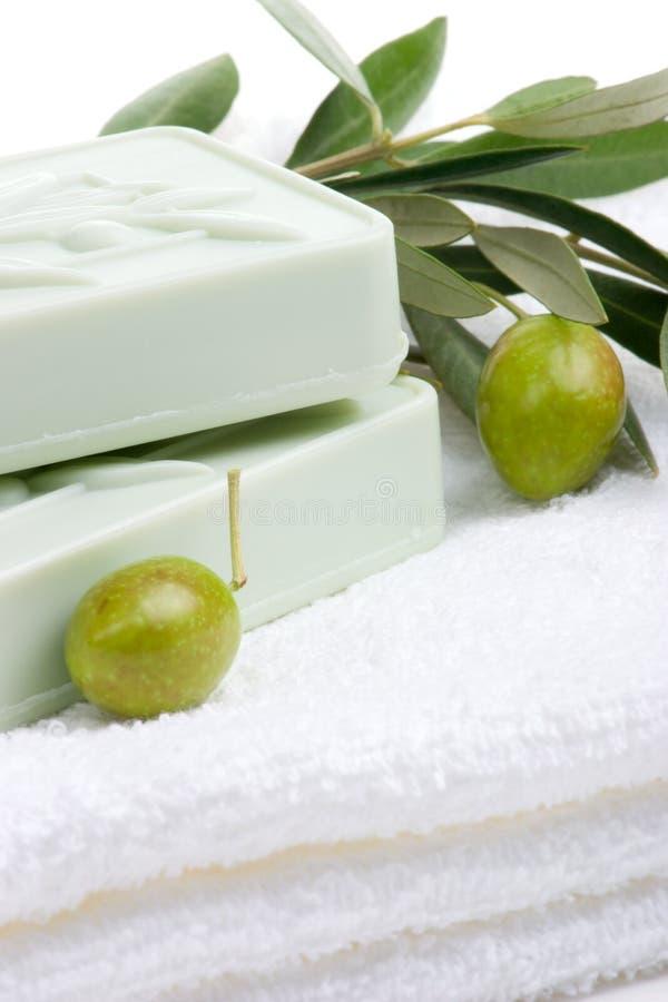 设置肥皂温泉 免版税库存图片