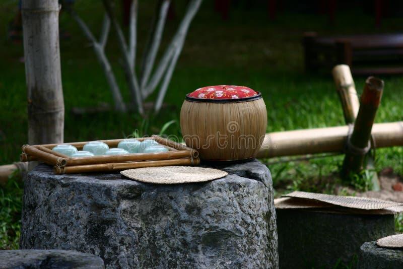 设置茶越南 免版税图库摄影