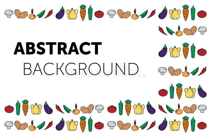 设置菜 E 设置传染媒介象菜 tomate,黄瓜,红萝卜,胡椒,茄子,豌豆,葱 皇族释放例证