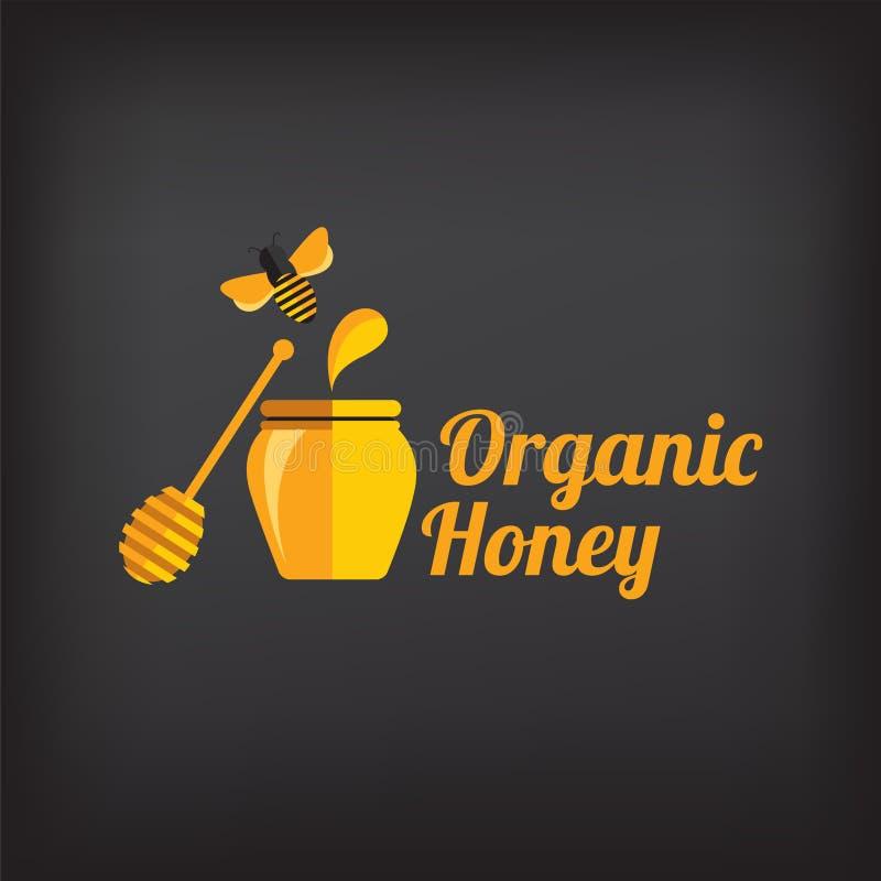 设置蜂蜜徽章和标签 抽象蜂设计 向量例证