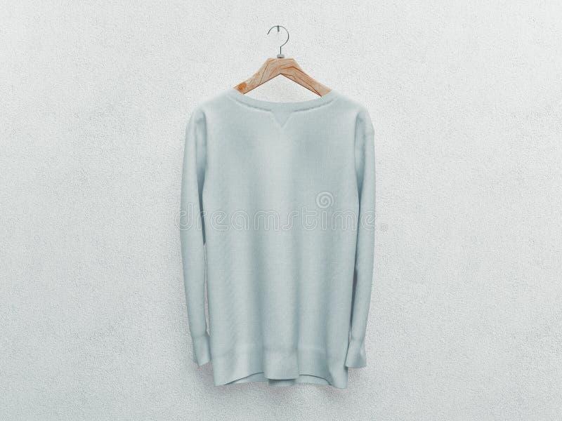 设置被隔绝的白色T恤或现实服装 3d?? 空白或空,清楚的棉花T恤杉 r 向量例证