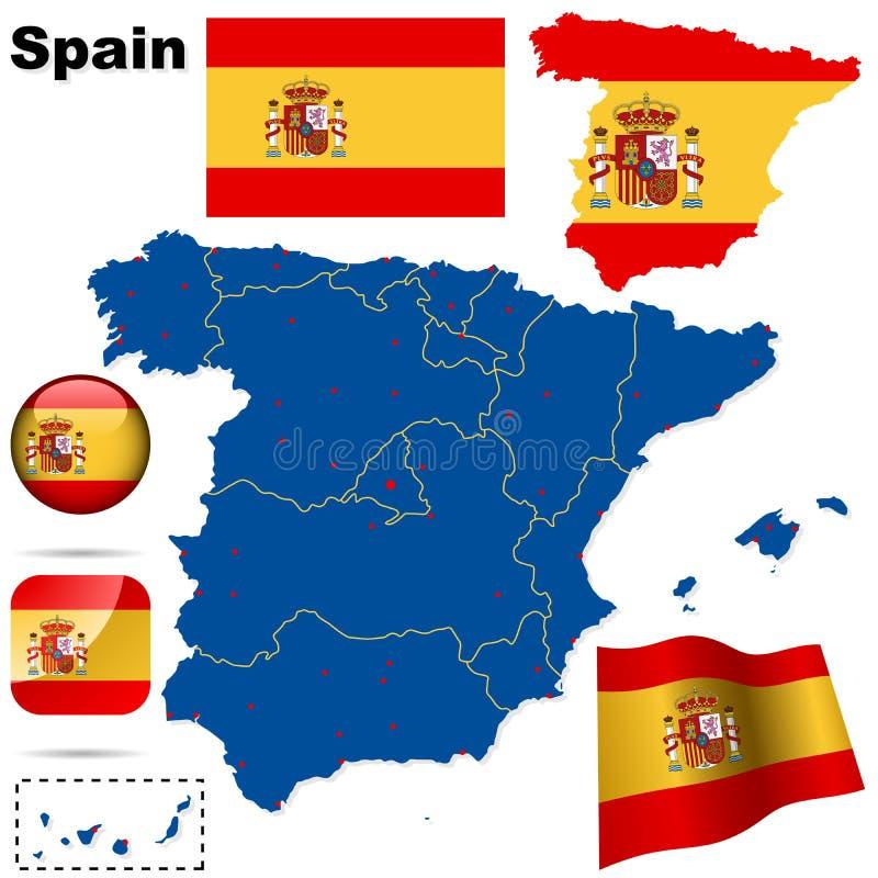 设置西班牙 皇族释放例证