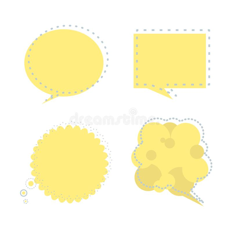 设置讲话泡影气球认为,讲话,谈话,模板,艺术舱内甲板,设计,传染媒介,例证正文框横幅框架 皇族释放例证