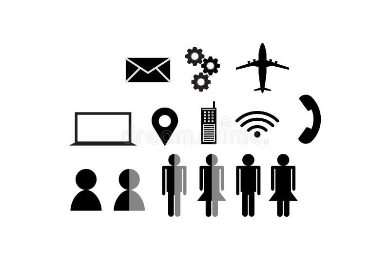 设置象概念营销运输与拷贝空间传达技术在白色背景的传染媒介例证增加文本 向量例证
