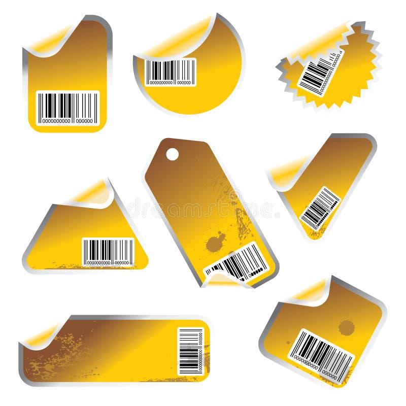 设置贴纸标签向量 库存例证