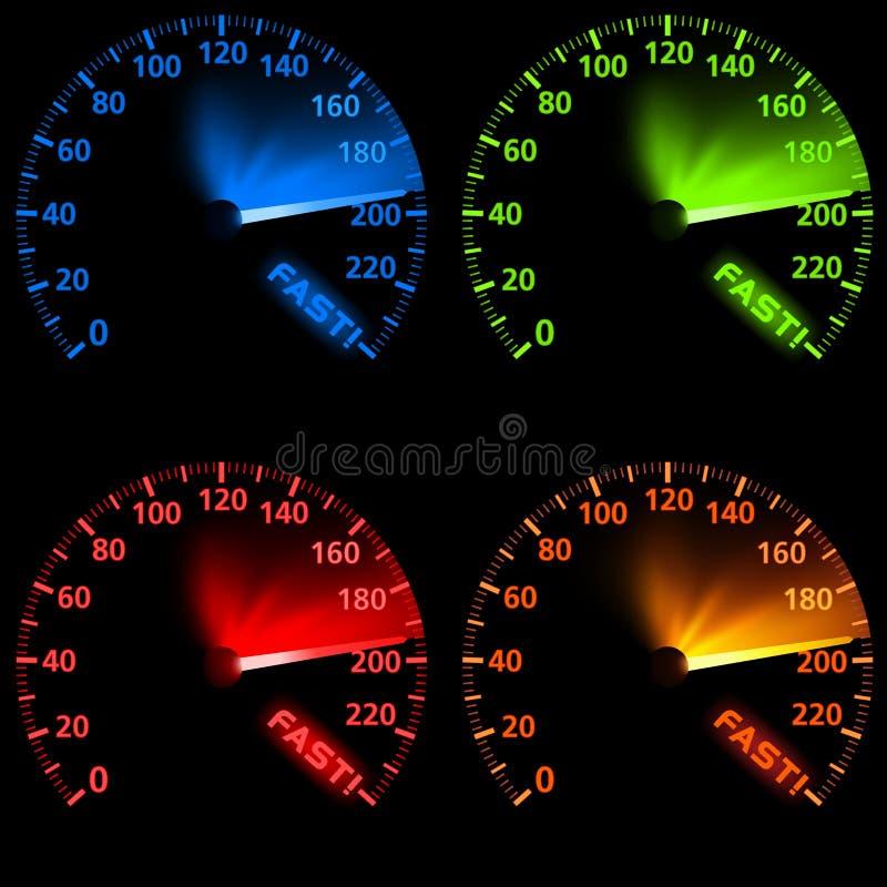 设置车速表 向量例证