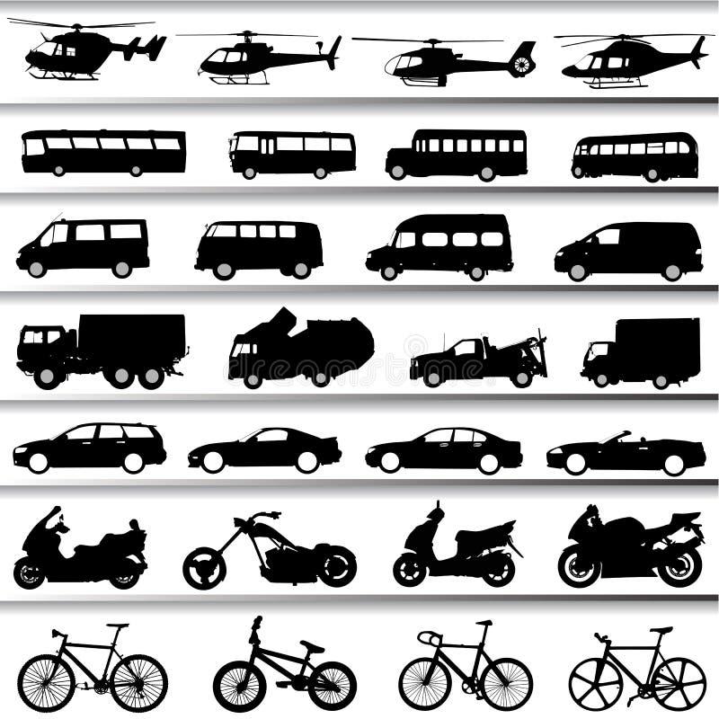 设置运输向量 库存例证