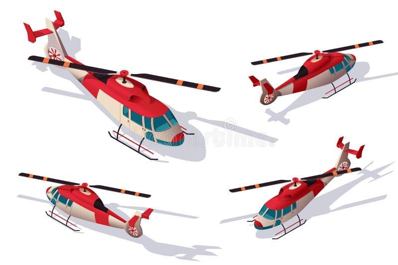 设置运输的,支持交付抢救直升机航空 库存例证