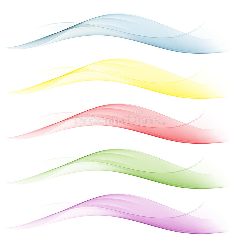 设置通知 蓝色,黄色,红色,绿色背景摘要挥动 向量例证