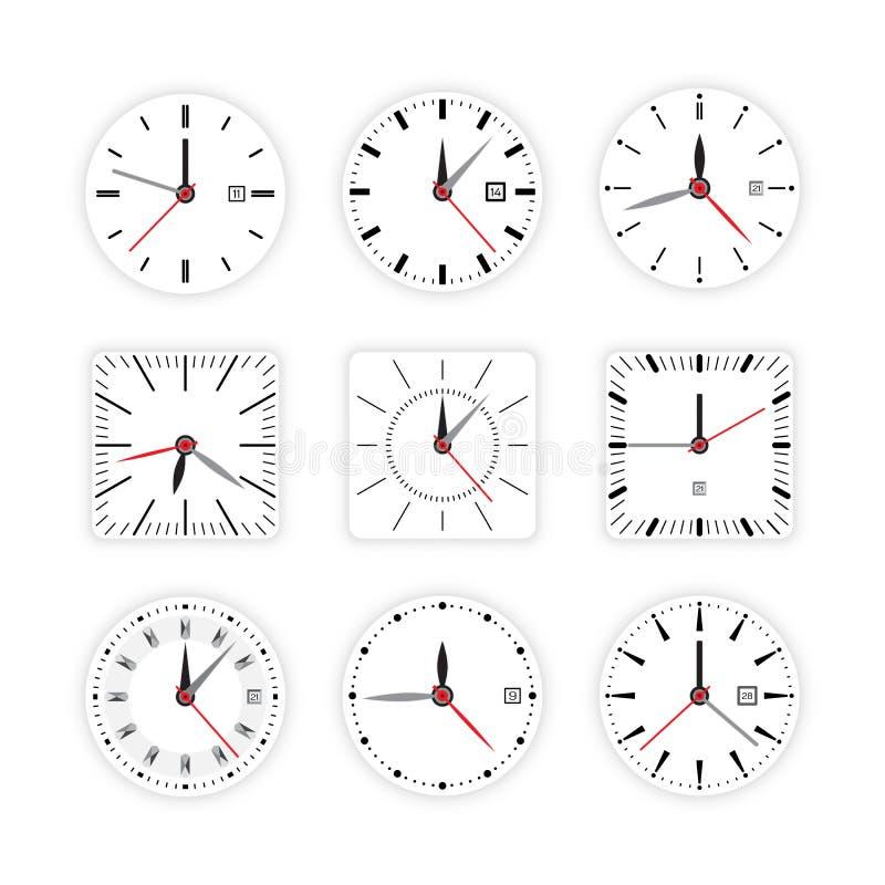 设置钟盘定时器 库存例证