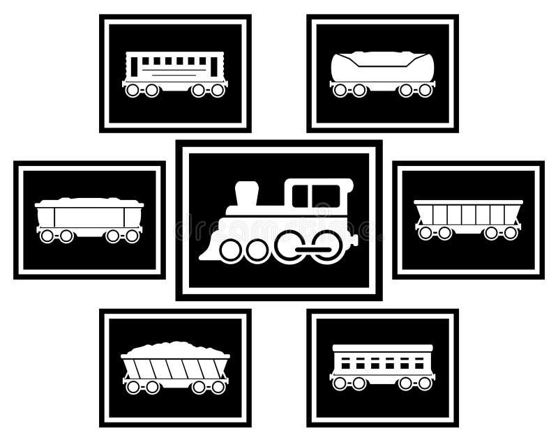 设置铁路运输的象 皇族释放例证