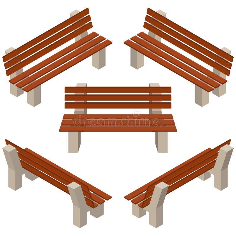 设置长木凳 隔绝修建庭院、农场或者其他室外场面 皇族释放例证