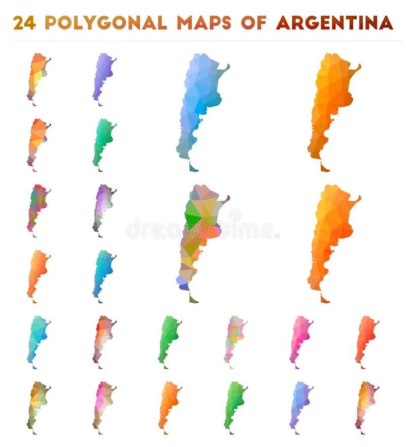 设置阿根廷的传染媒介多角形地图 皇族释放例证