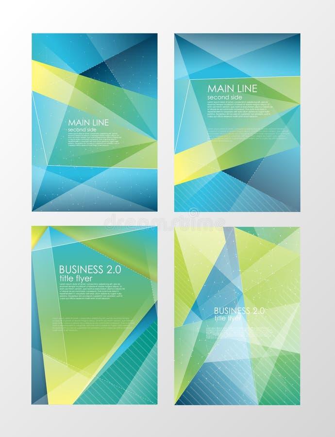设置飞行物模板 企业小册子 设计的,教育,介绍,网站,杂志封面编辑可能的A4海报 向量例证