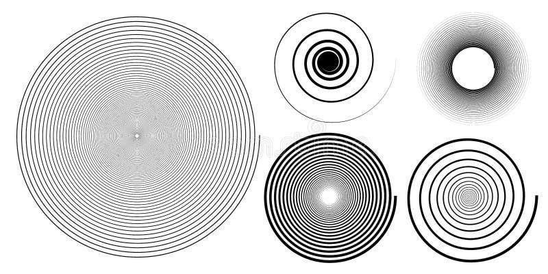 设置黑白螺旋背景 向量例证