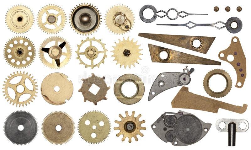 设置齿轮,钝齿轮,被隔绝 免版税库存图片
